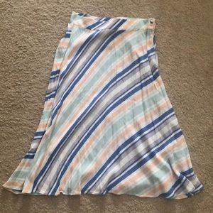 Mid length nautical strip skirt Sz 2 worn 1 time